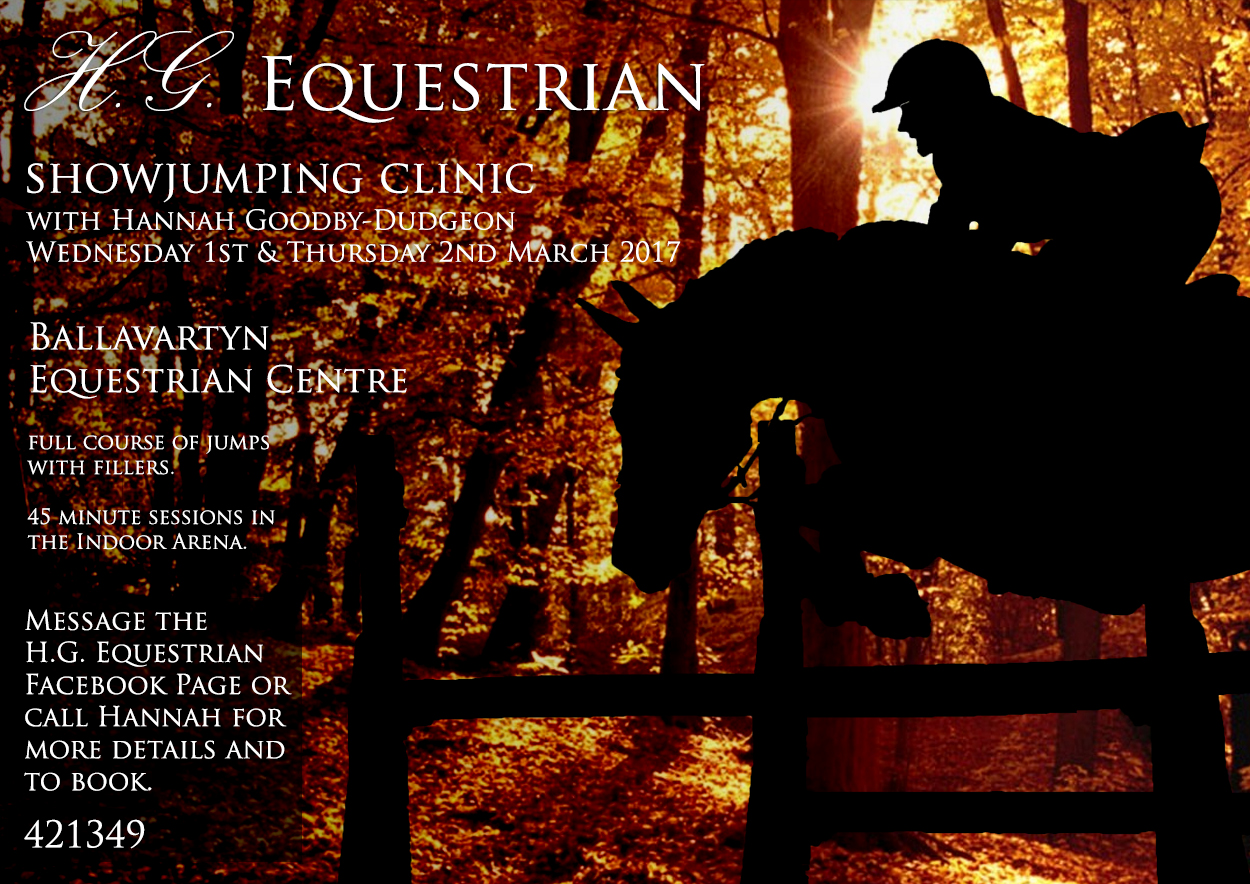 Hannah Goodby-Dudgeon Showjumping Clinic Mar17