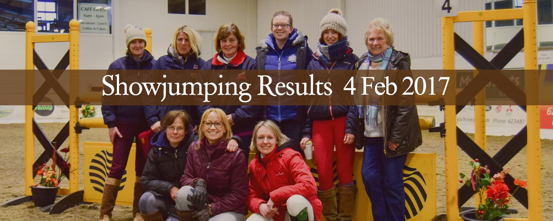 Ballavartyn Showjumping Results 4 February 2017