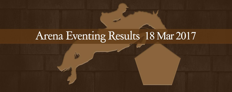 Ballavartyn Arena Eventing Results 02/17