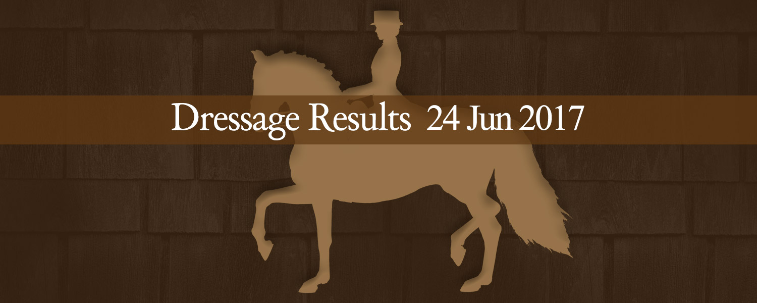 Ballavartyn Isle of Man - Dressage Results 24 June 2017