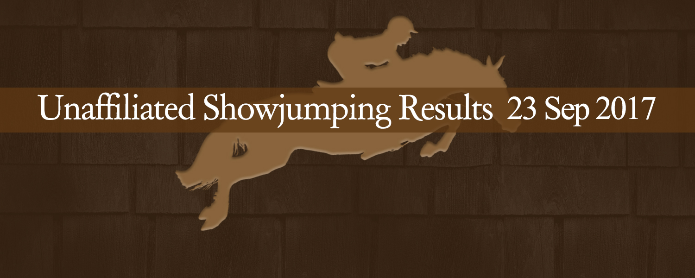 Ballavartyn Showjumping Results 09/17