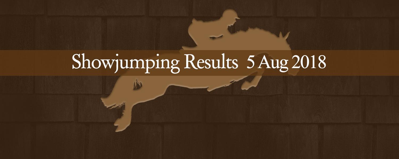 Ballavartyn Showjumping Results 08/18