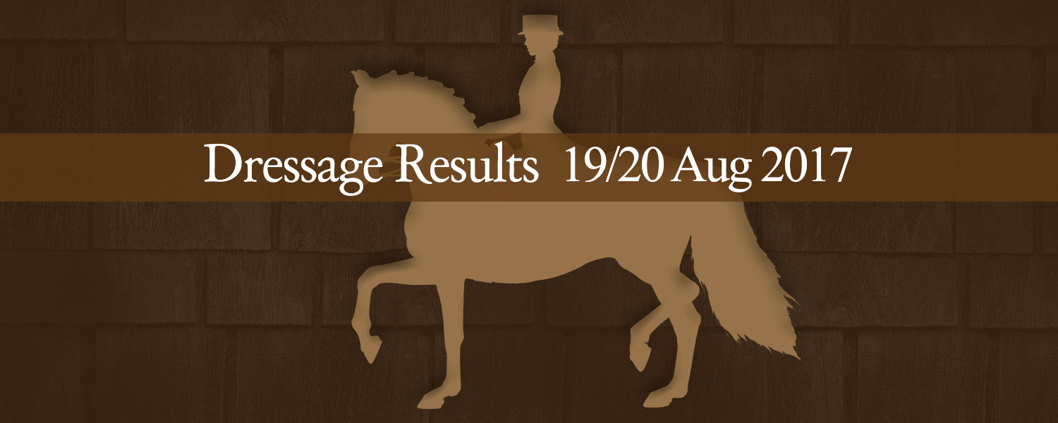 Ballavartyn Isle of Man - Dressage Results 19 August 2017