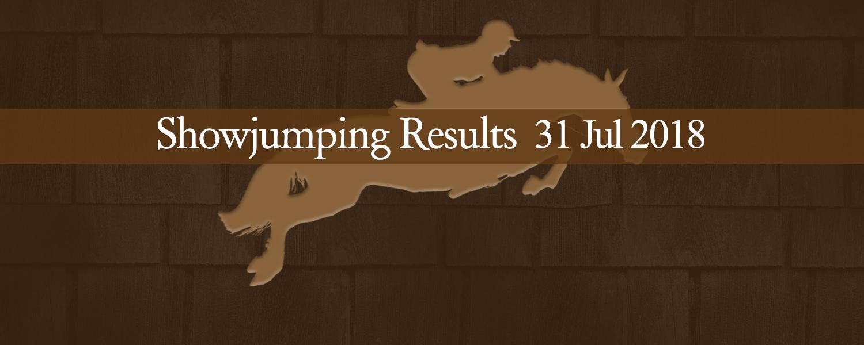 Ballavartyn Showjumping Results 31/07/18