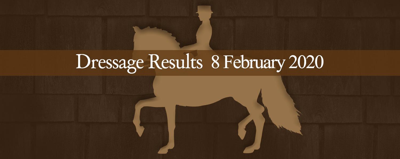 Ballavartyn Dressage Results 8-02-20