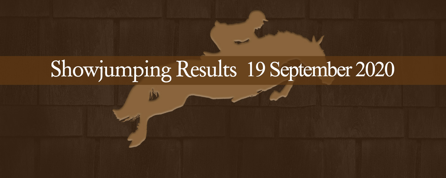 Ballavartyn Showjumping Results 19 September 2020