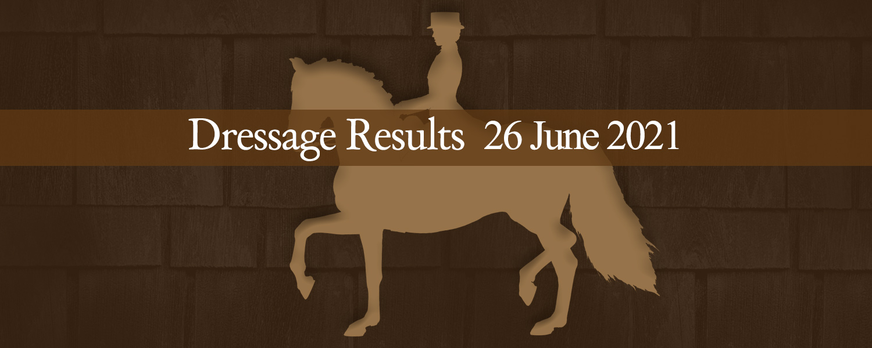 Ballavartyn Dressage Results 26 June 2021