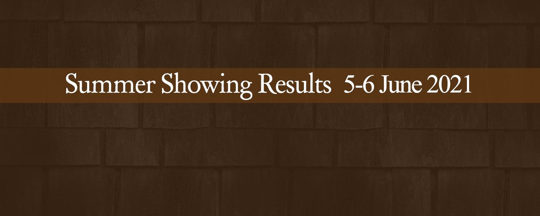 Ballavartyn Summer Showing Results 5-6 June 2021